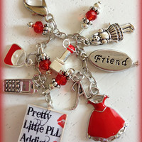 Pretty Little Liars PLL Inspired Charm- Filofax, Planner, Gillio, Erin Condren, Notebook, backpack Purse Charm