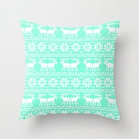 Tiffany ugly xmas sweater Throw Pillow by Rex Lambo | Society6