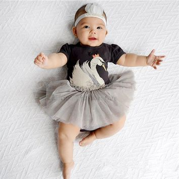 2018 hot sales Short Sleeve Dress Infant Baby Girls Summer Cute Animals Minions Ball Gown Tulle Clothes Dresses Girls
