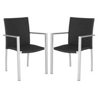 Safavieh Maxine 2-Piece Wicker Patio Side Chair Set : Target
