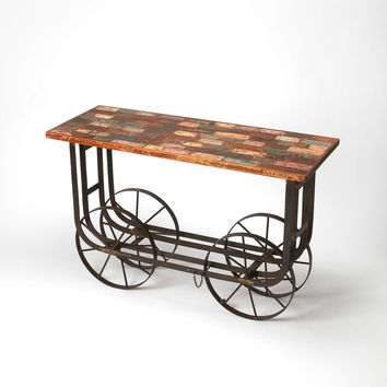 Butler Industrial Chic Console Table/Bar Cart 5188330