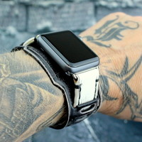 Black and White Apple Watch Band-Throttle2