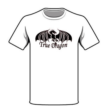 Black Dragon Tshirt True Dragon's Original Shirt Screen Print Tshirt