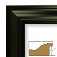 Craig Frames 21834700BK 8x10 Picture/Poster Frame, Smooth Finish, 2-Inch Wide, Black
