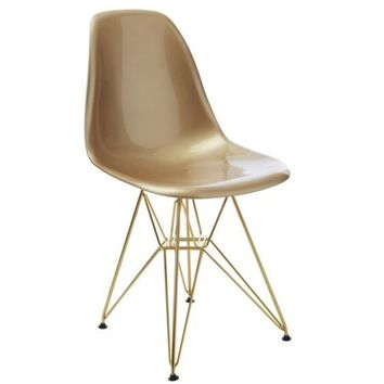 DSR Eiffel - Gold Seat with Gold Metal Legs - Reproduction | GFURN