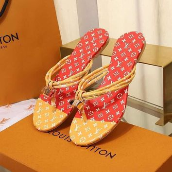 LouisVuiton LV Double buckle with logo Fashion casual sandals-2