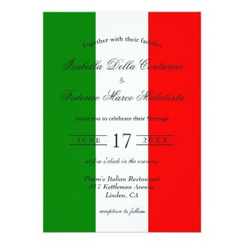 Italy Italian Wedding Invitation