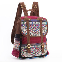 Native Tribal Silk Woven Backpack/Rucksack Hippie, Boho, Gypsy Style