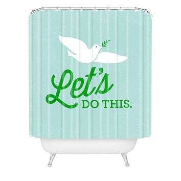Nick Nelson Lets Do This Shower Curtain