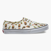 Vans Drained And Confused Authentic Shoes White  In Sizes