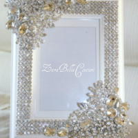 Crystal Encrusted 4x6 swarovski sparkle by ZaraBellaCouture
