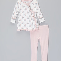 Baby Roo Pink Squirrel Fold-Over Top & Leggings - Infant   zulily