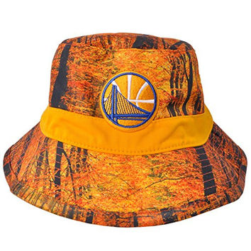 Golden State Warriors Forest Camo Bucket Hat Mitchell Ness Licensed NBA