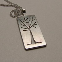 Sterling Silver Tree Necklace by SNstudio on Zibbet