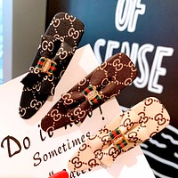 GUCCI tide brand female paragraph letters English bow knot clip