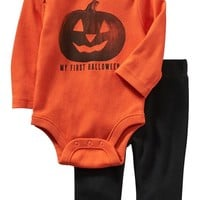 "Old Navy ""First Halloween"" Bodysuit & Pants Sets For Baby"