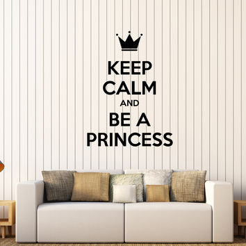 Vinyl Wall Decal Quote Princess Lady Woman Girl Room Stickers Mural Unique Gift (433ig)