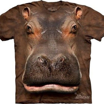 Big Face Hippo Head T-Shirt