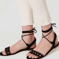 Cutout Lace Up Sandals | LOFT