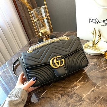 GUCCI GG Marmont matelassé shoulder bag