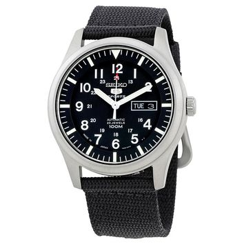 Seiko 5 Automatic Black Dial Mens Watch SNZG15J1