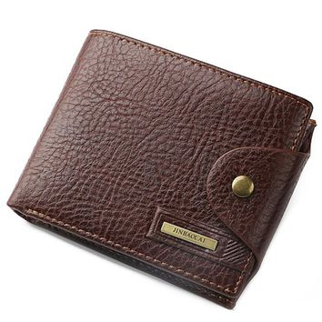 Men'S Leather Billfold Purse Credit Card Holder Wallets 0918-42