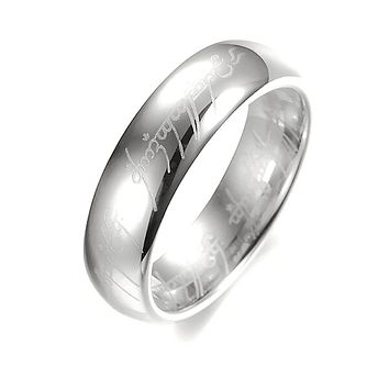 6mm Stainless Steel LOTR One Ring with Elvish Inscription