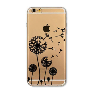 Dandelion mobile phone case for iphone 5 5s SE 6 6s 6 plus 6s plus + Nice gift box 072701