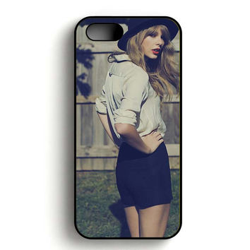 Taylor Swift Red Photoshoot iPhone 5, iPhone 5s and iPhone 5S Gold case