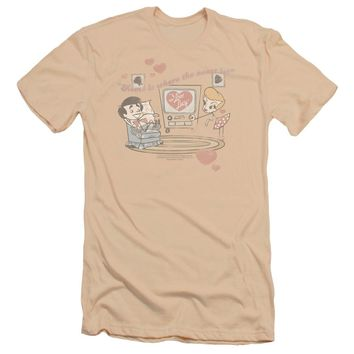 I Love Lucy - Home Is Where The Heart Is Premuim Canvas Adult Slim Fit 30/1