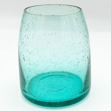 Recycled Glass Low Vase