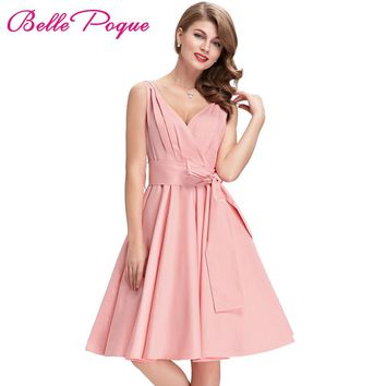 Black Pink Tunic Retro Vintage 1950s 60s Dresses Womens Rockabilly Dress Pin up Vestidos Audrey Hepburn Sexy Party Swing Dresses
