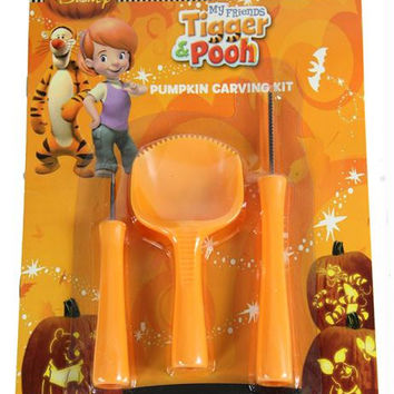 Officially Licensed 3-piece Pumpkin Carving Set - 7 Patterns Winnie The Pooh, My Friends Tigger & Pooh