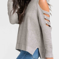 LINDSEY COLD SHOULDER TOP