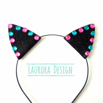 CAT EARS, kitten ears, ddlg ears,kitten play, cosplay ears, petplay ears, cute headband, glitter cat ears headband, Cheshire cat cosplay ear