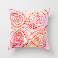 Flowers Throw Pillow by Koma Art