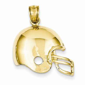 14k Gold Football Helmet pendant