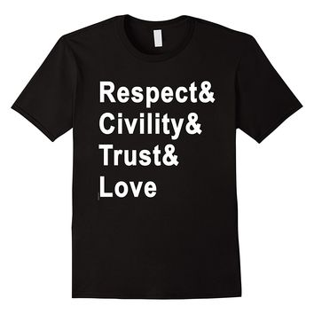 RESPECT AND LOVE Tshirt by Scarebaby