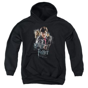 Harry Potter - Deathly Hollows Cast Youth Pull Over Hoodie