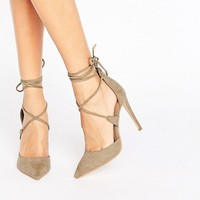 Public Desire Hailey Tie Up Heeled Shoes at asos.com
