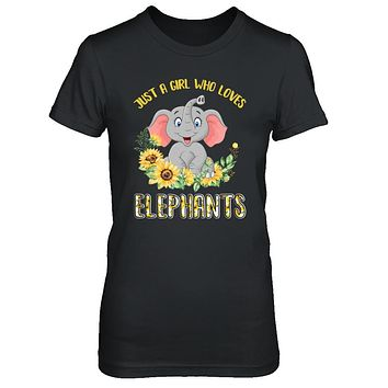 Just A Girl Who Loves Elephants And Sunflowers