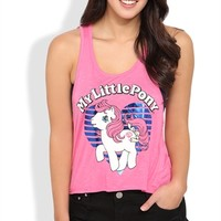 Cropped Tank Top with Deep Armholes and My Little Pony Screen