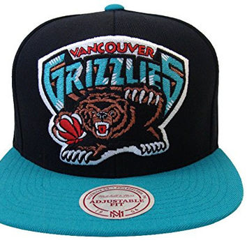 Vancouver Grizzlies Mitchell & Ness XL Logo Snapback Cap Hat
