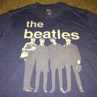 Sale!! Vintage THE BEATLES casual T shirts band music tee