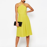 ASOS Rib Structured Full Midi Dress at asos.com