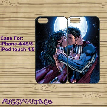 iphone 4 case,iphone 4s case,cute iphone 4 case,iphone 5 case,cute iphone 5 case,Superman and woman,best friends case,in plasitc,silicone.