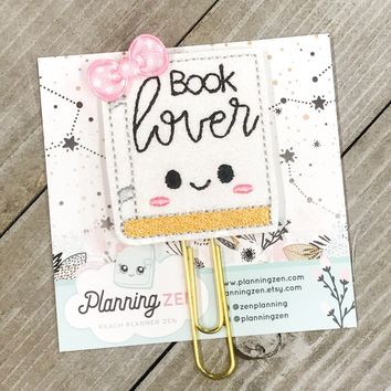 Book Lover Planner Clip