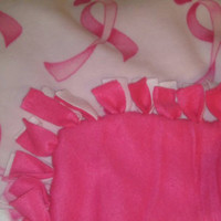 Breast cancer fleece blanket