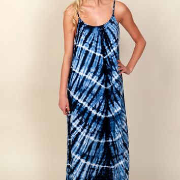 Sit By The Pool Maxi Navy/White