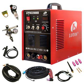 Lotos Plasma Cutter Tig Stick Welder 3 in 1 Combo Welding Machine